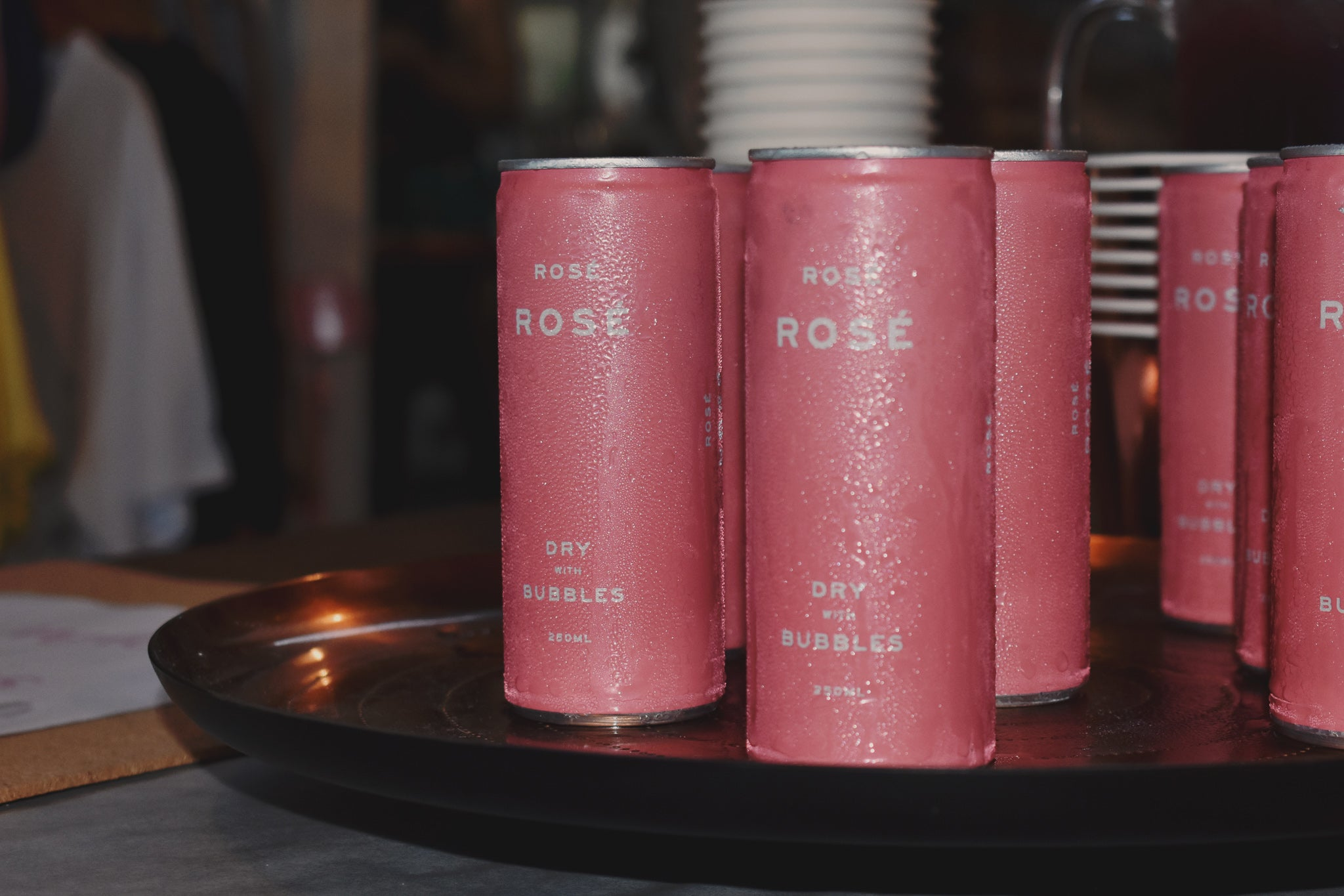 rose rose sparking wine in a can by lazy girl lingerie
