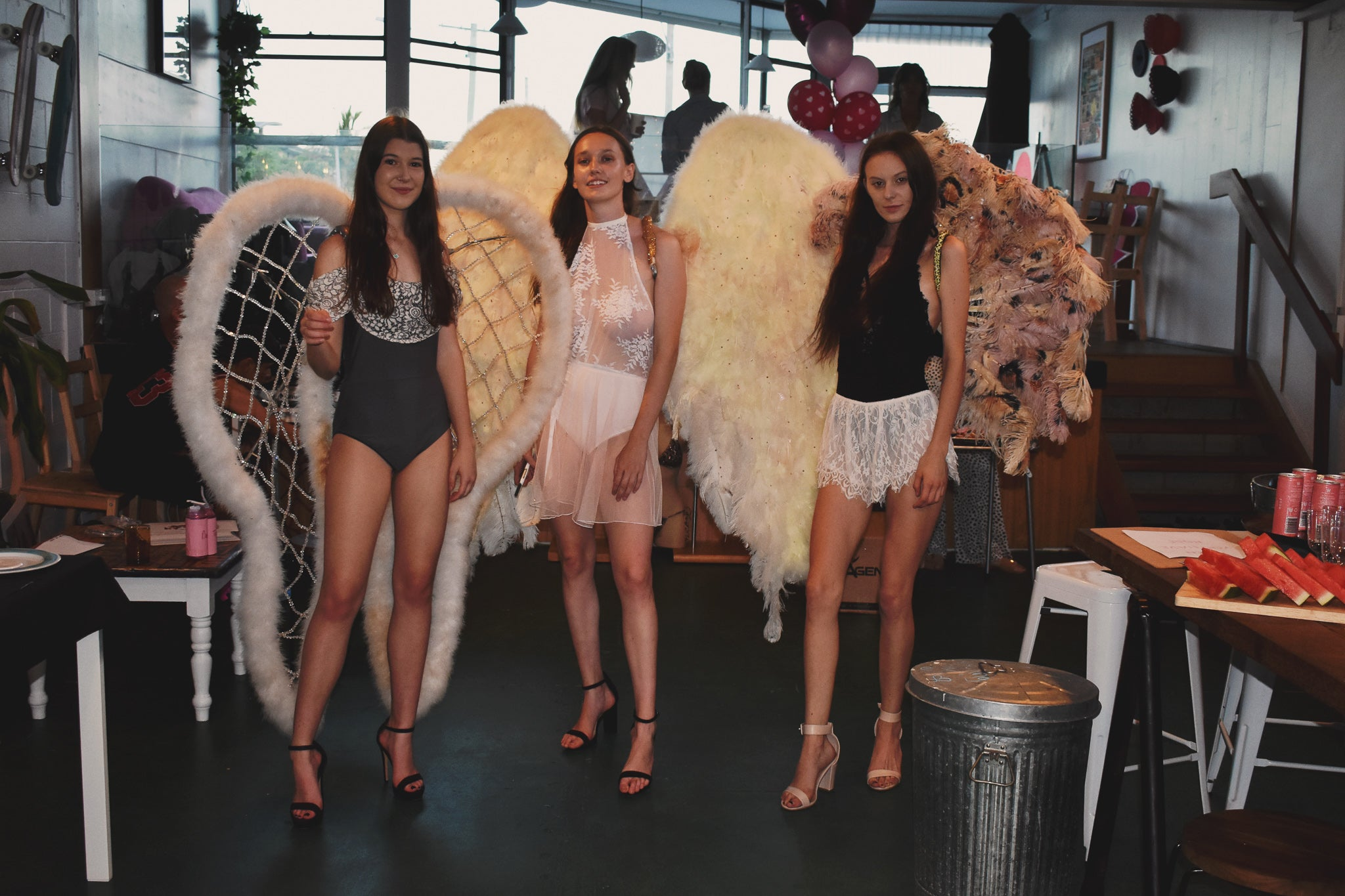 lingerie models with wings