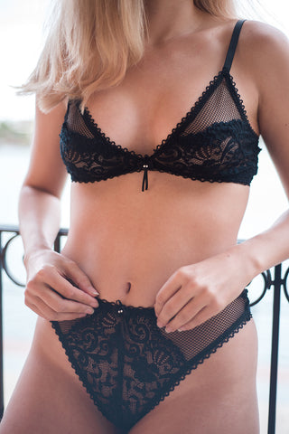 soft cup lace vintage inspired bra by lazy girl lingerie