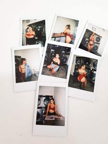 polaroid photos lingerie
