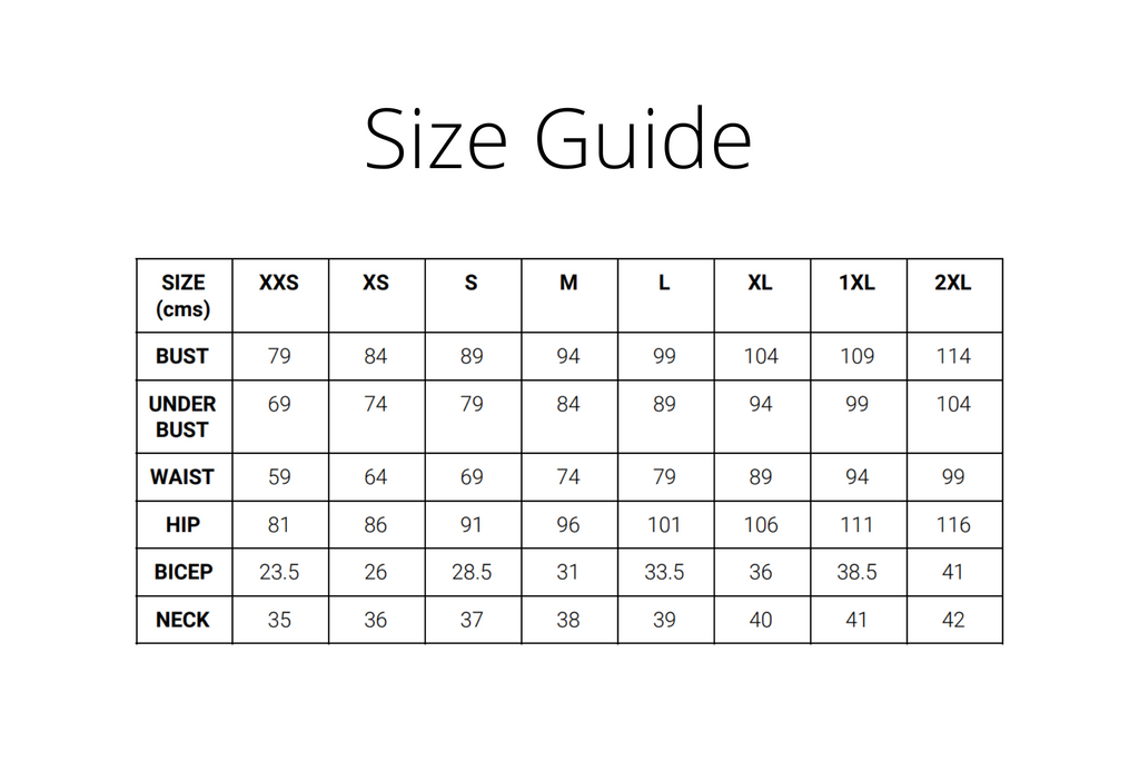 SIZE GUIDE CMS
