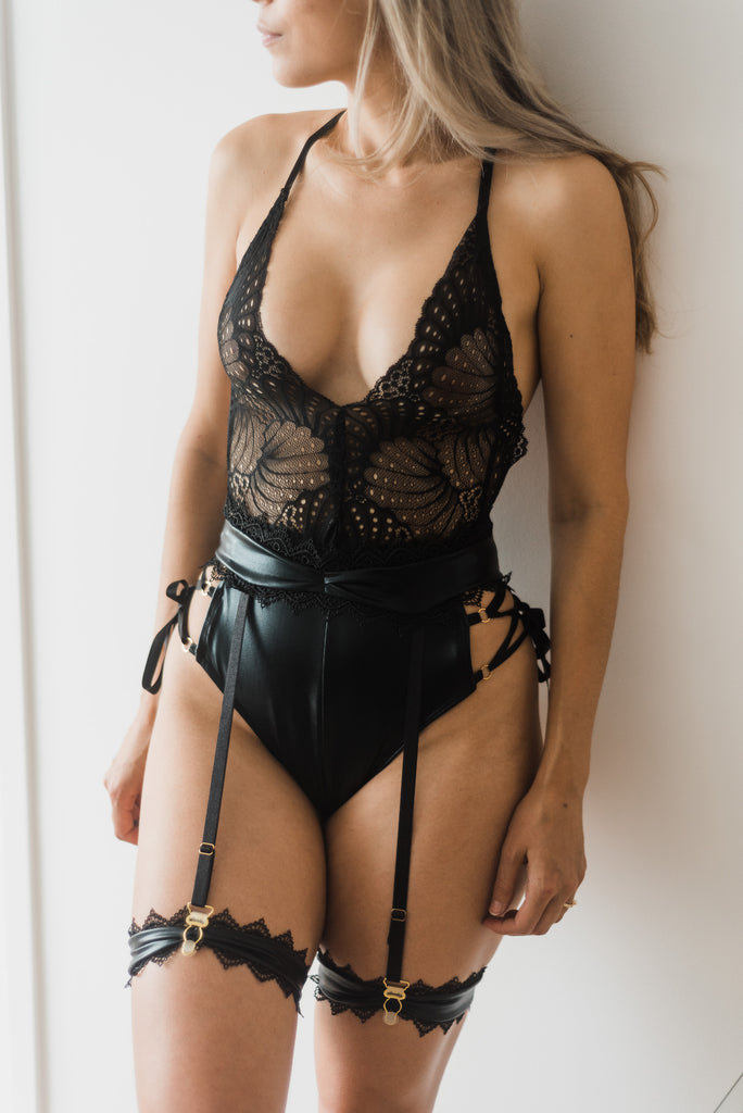 sexy sheer black lace lingerie