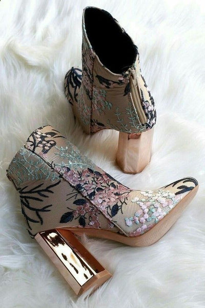 embroidery boots