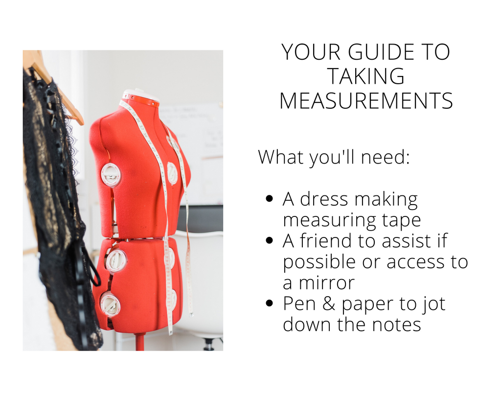 how to take your clothing measurements