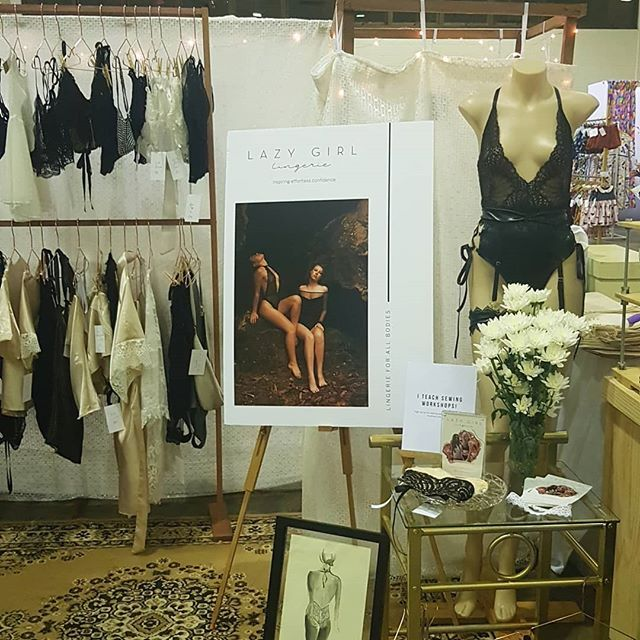 lingerie stall set up for etsy made local brisbane