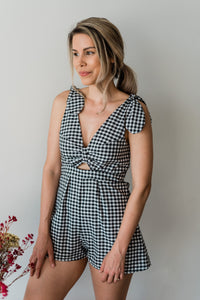 gingham romper women