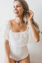 bridal bodysuit lace top