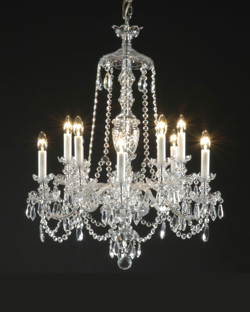 Traditional 10 Light Crystal Chandelier - David Malik & Son