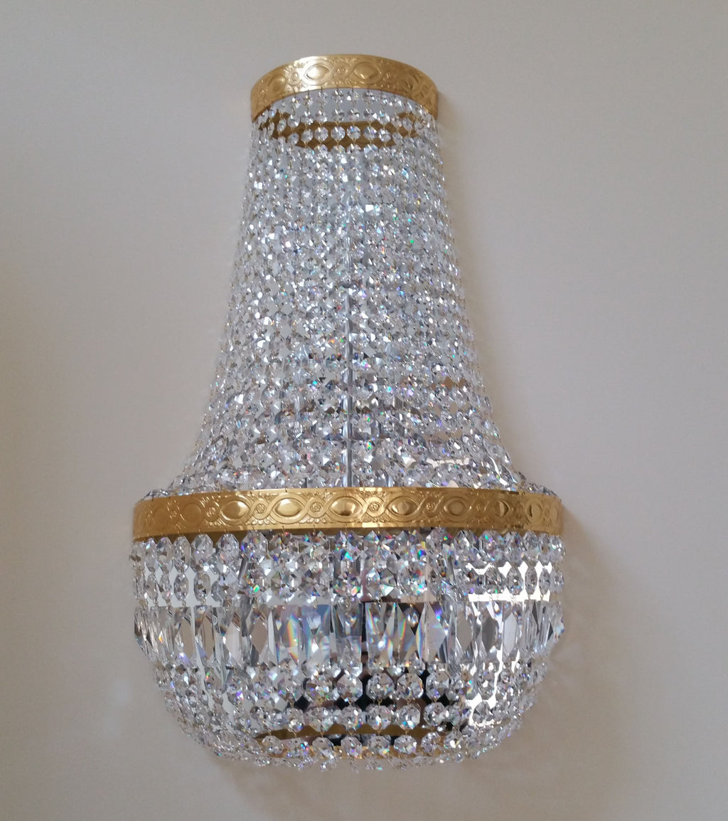 Wall Light Dressed With Swarovski - David Malik & Son