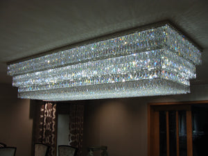Rectangle flush chandelier - David Malik & Son