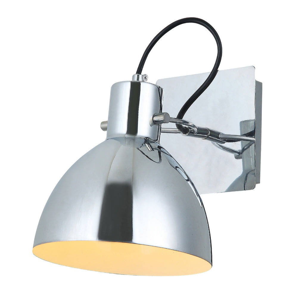 Upminster Wall Light Chrome - David Malik & Son