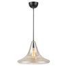 Croxley Ceiling Light Transparent Amber - David Malik & Son