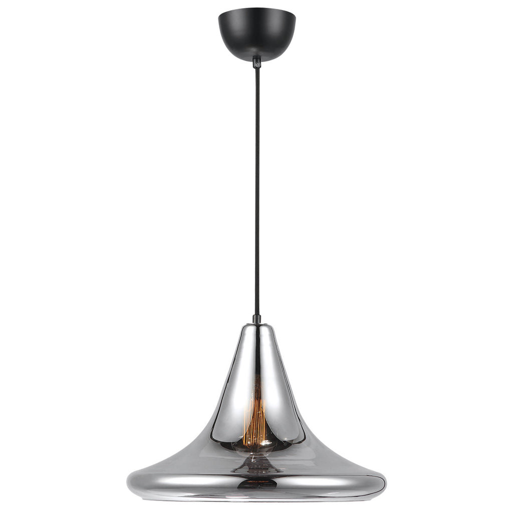 Croxley Ceiling Light Transparent Chrome - David Malik & Son