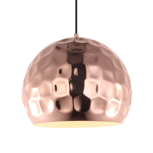 Copper Embankment Ceiling Light - David Malik & Son