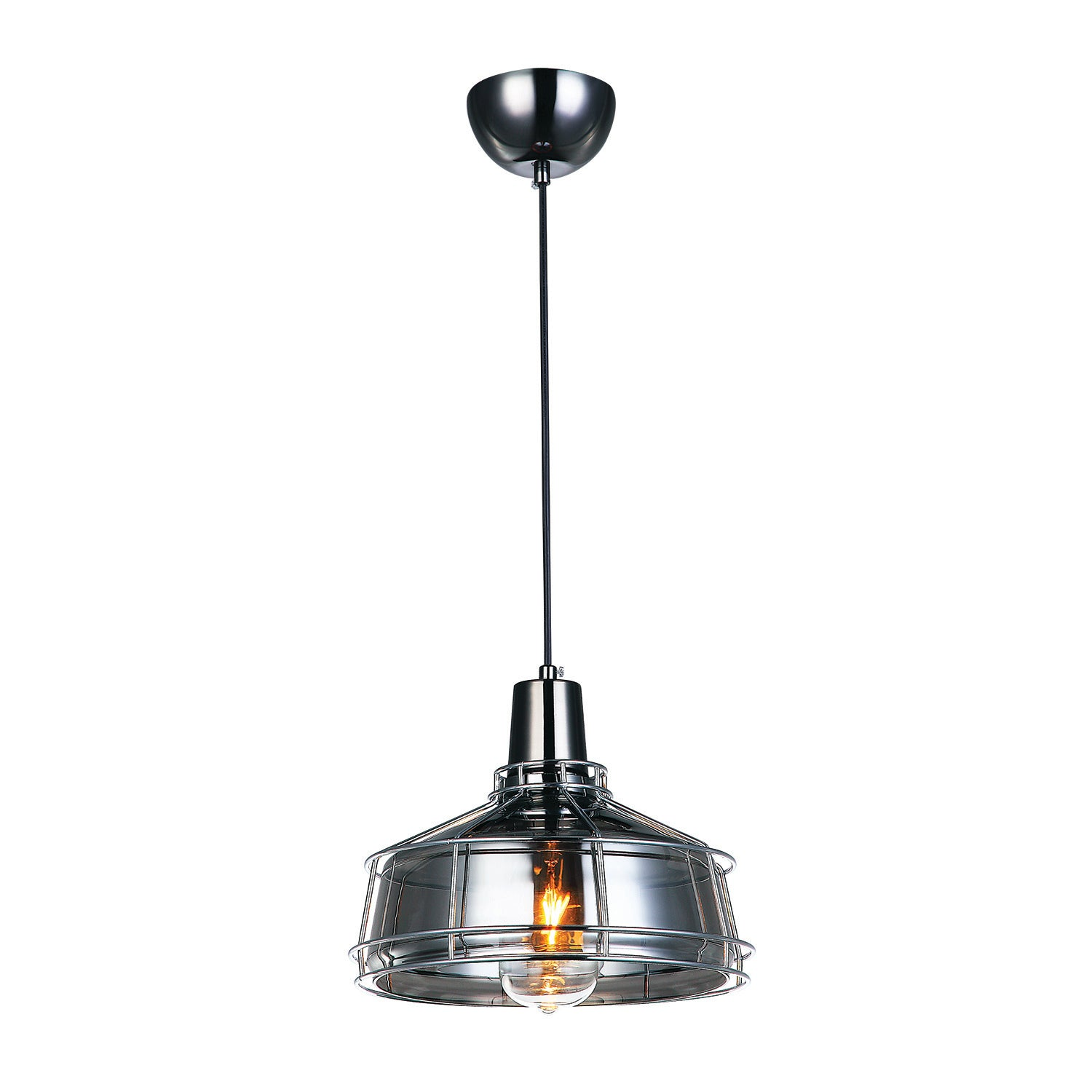 Brixton Smoke Glass Ceiling Light