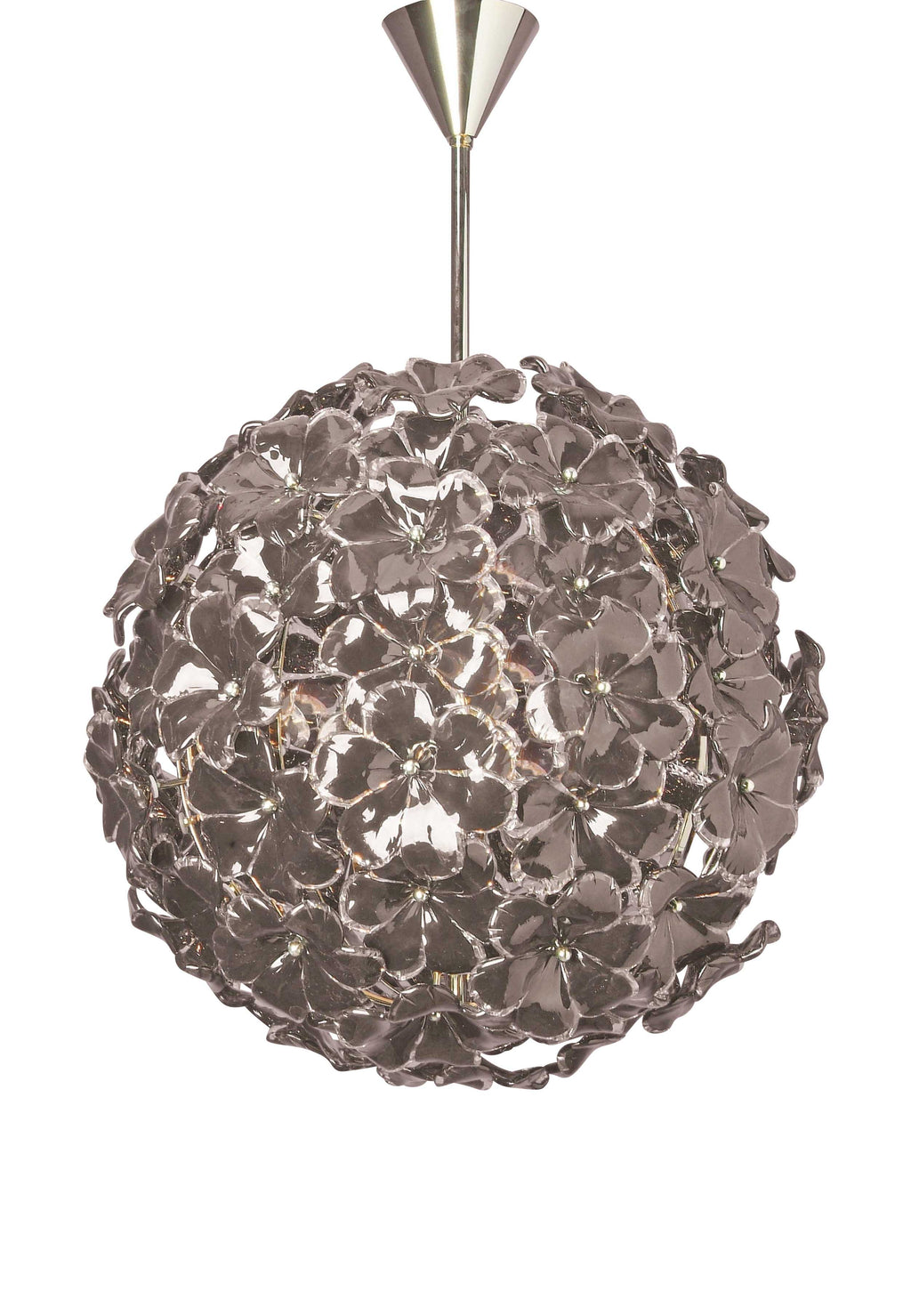 Kew Flower Ceiling Light Black Glass - David Malik & Son