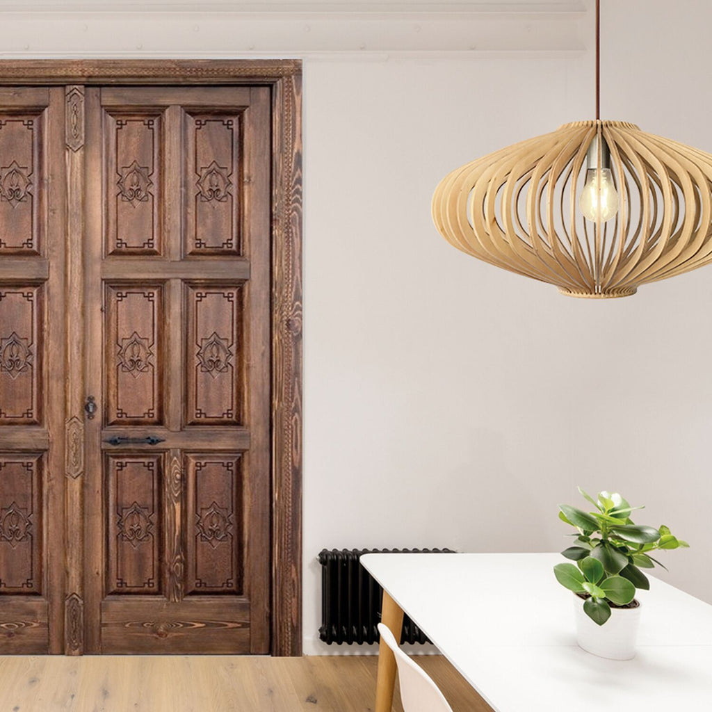 Green Park Wooden Ceiling Light - David Malik & Son