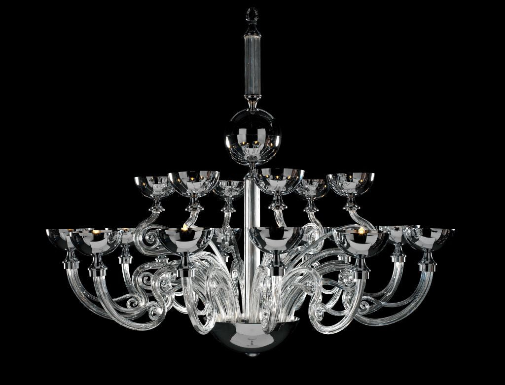 Hampstead Chandelier 18 Light in Clear - David Malik & Son