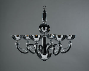 Hampstead Chandelier 6 Light in Black - David Malik & Son