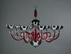 Hampstead Chandelier 8 Light in Red - David Malik & Son