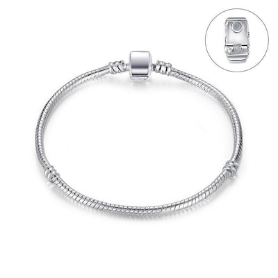 Silver Snake Chain Magnet Clasp