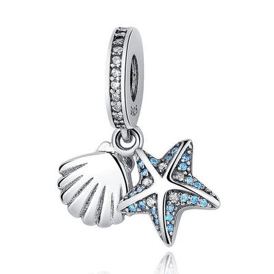 Tropical Starfish & Sea Shell Pendant Charms