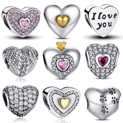 Heart Shape Charm Beads
