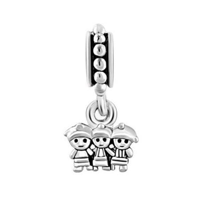 Triplets Child Pendant Charm