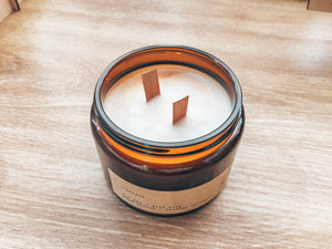Soy Wax, Wood Wick Candle