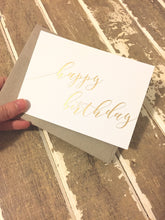 Happy Birthday Cards GOLD FOIL