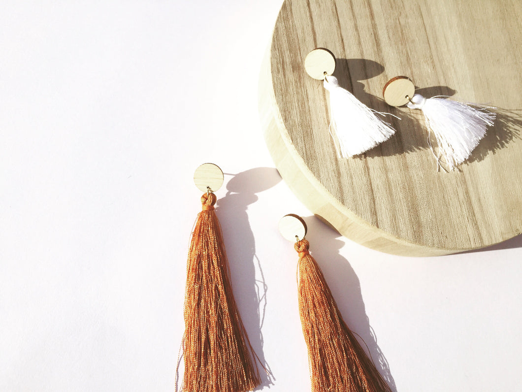 Ayla Earrings - choose your tassel length
