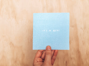 Greeting Card - It's a Boy