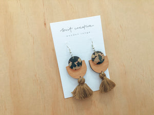 Wood x Acrylic Earrings