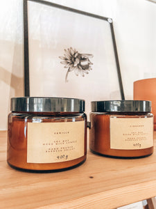 Soy Wax, Wood Wick Candle - 400g