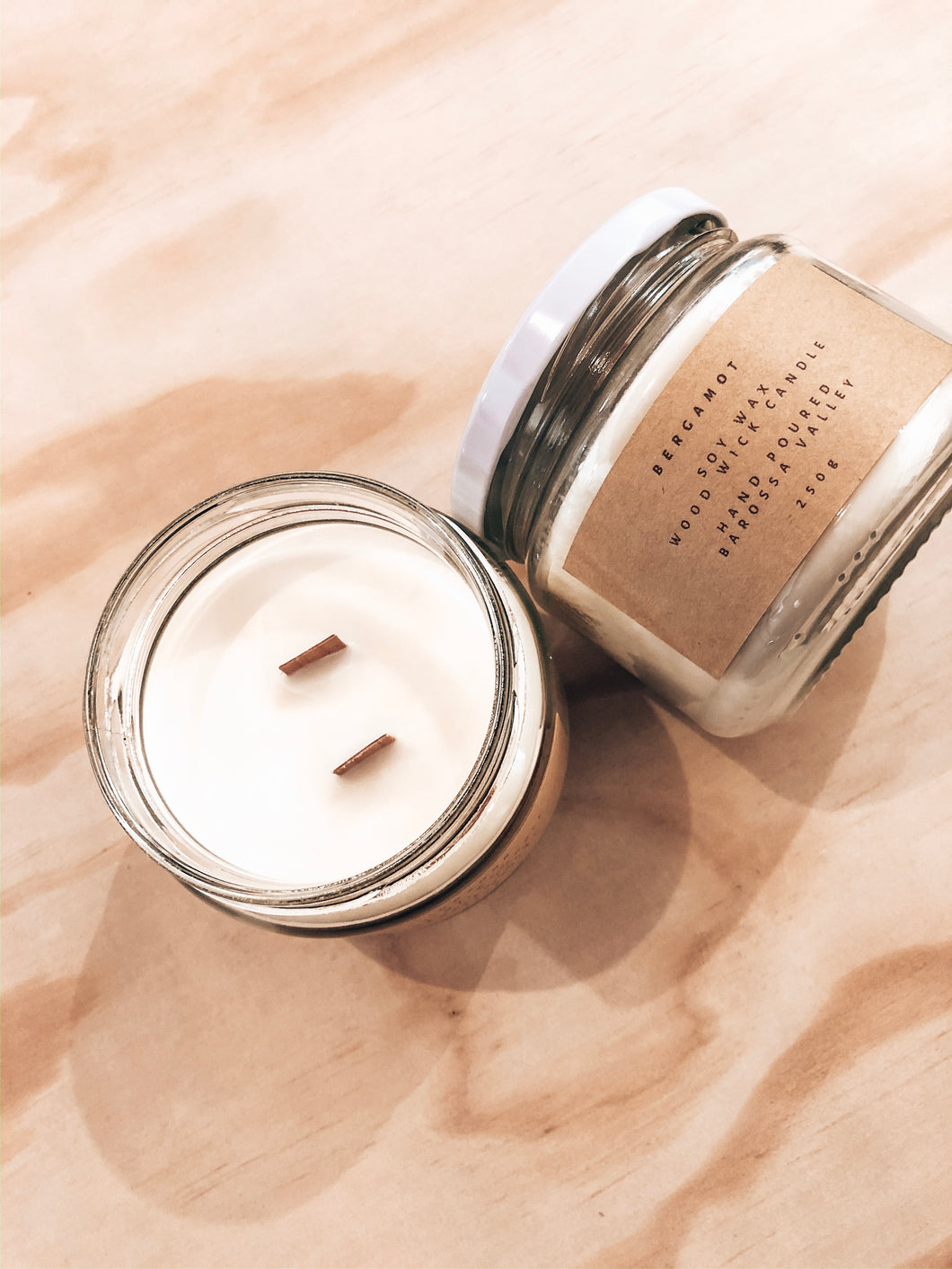 Soy Wax, Wood Wick Candle - 250g