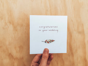 Greeting Card - Wedding Congrats