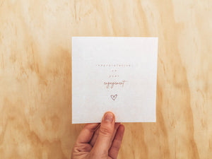 Greeting Card - Engagement