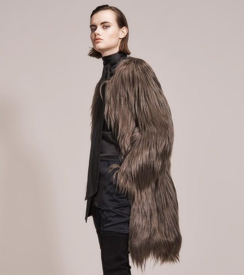 OPSUNDBAY - WOMENS ACACIA GOAT HAIR COAT