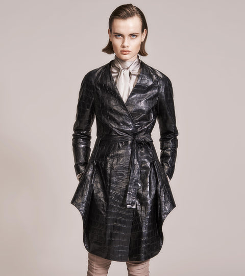 OPSUNDBAY - WOMENS BLACK DRESS COAT by Womenswear Designer Dianna Opsund Bay