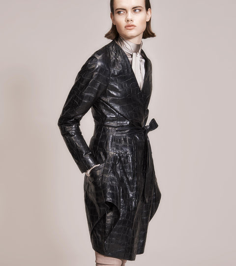 OPSUNDBAY - WOMENS BLACK DRESS COAT