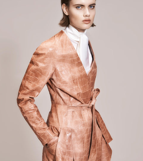 OPSUNDBAY - WOMENS PINK DRESS COAT by Womenswear Designer Dianna Opsund Bay