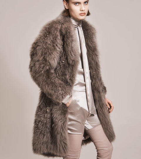 OPSUNDBAY - WOMENS CASHMERE FUR COAT