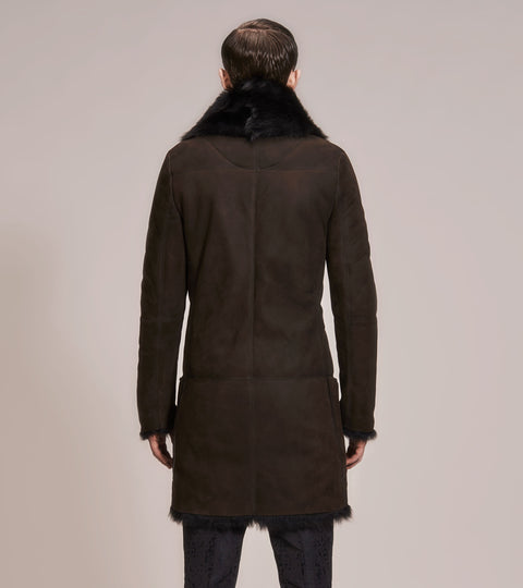 OPSUNDBAY - MENS BROWN SHEARLING COAT