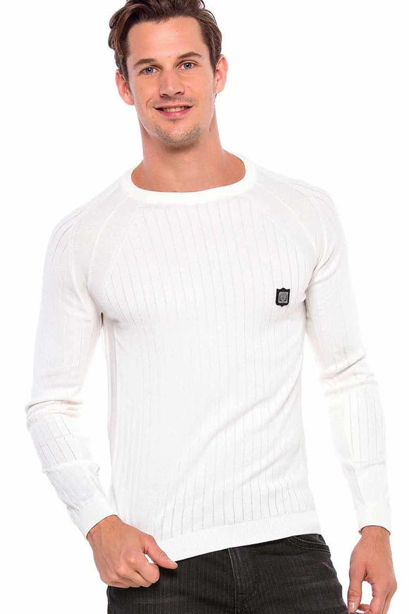 Copy of Cipo & Baxx Black Slimfit Knitted Top
