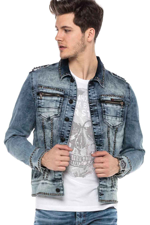 Cipo & Baxx Studded Denim Jacket