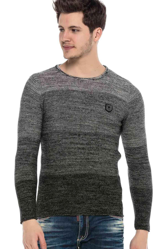 Cipo & Baxx TwoTone Grey Knitted Jersey