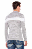 Cipo & Baxx TwoTone Light Grey Knitted Jersey