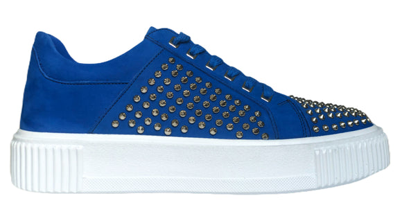 FF Royal Blue Suede With Silver Studs