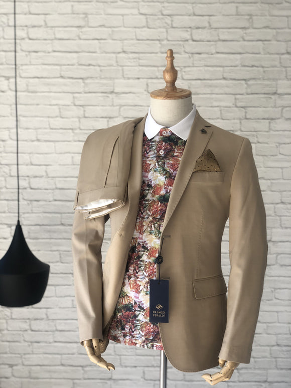 Lux Cream Tailored Suit