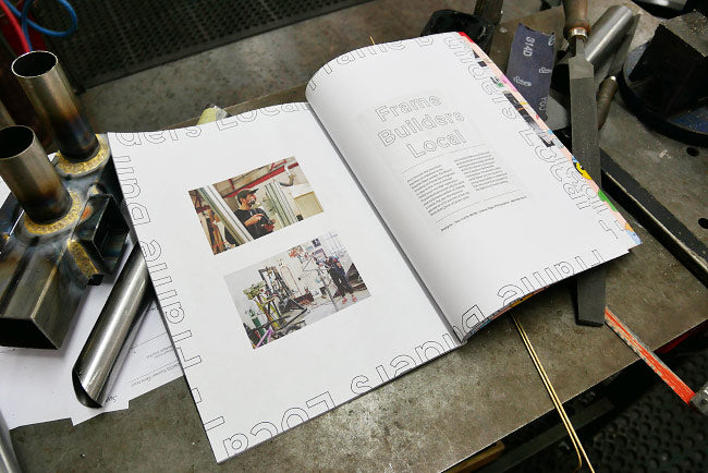 Students of The Bicycle Academy, The Domestique Magazine, Frame Building
